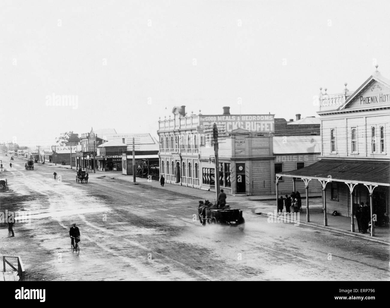 Rangitikei Street, Palmerston North, New Zealand, c.1900 - Stock Image