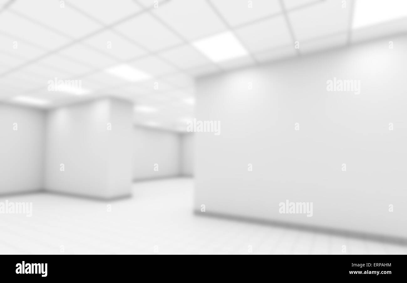 Blurred abstract empty office room interior background, 3d Stock ...