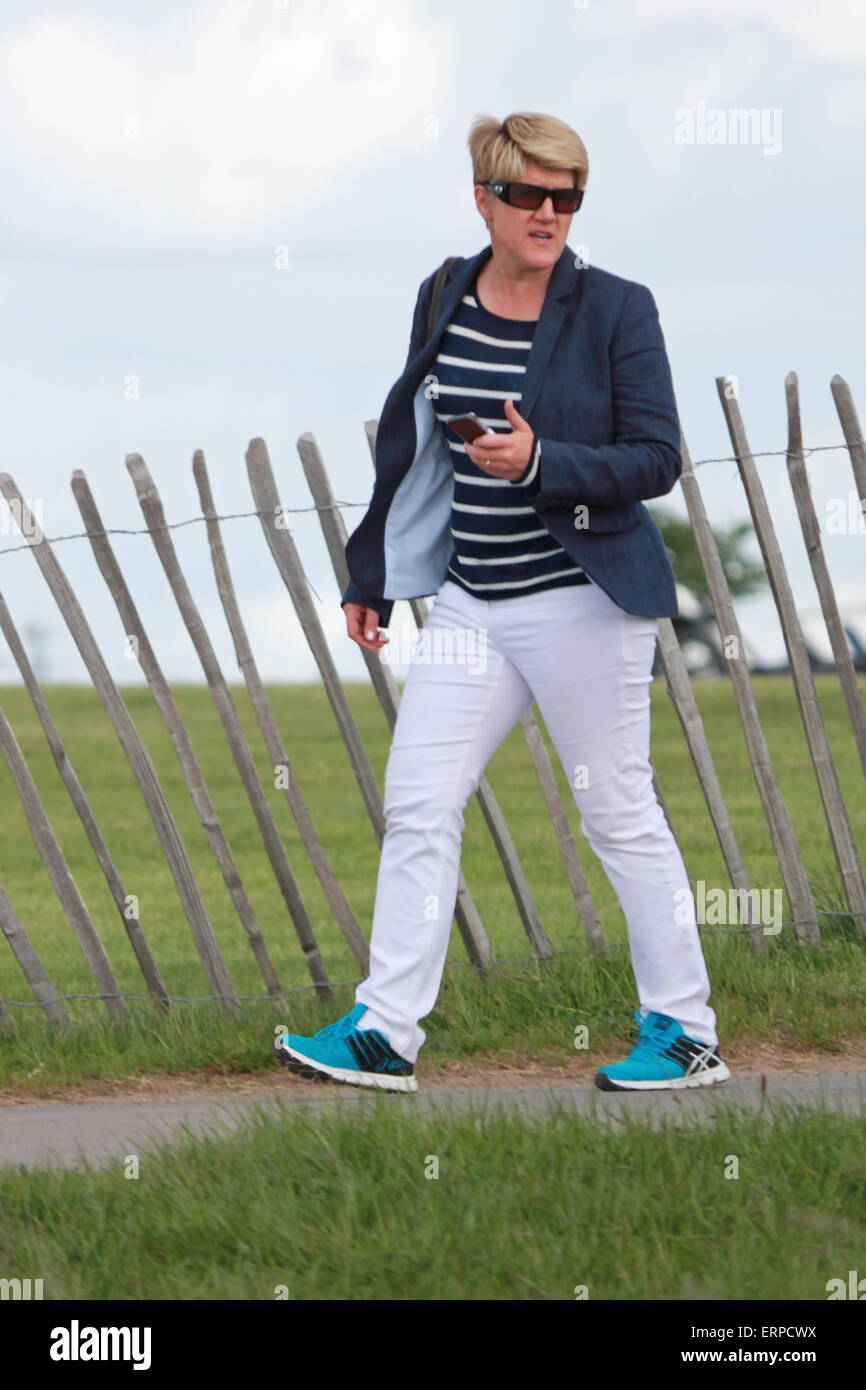 Epsom Downs Surrey UK. 6th June, 2015. Clare Balding chose not to present for Channel 4 racing this year, but instead - Stock Image