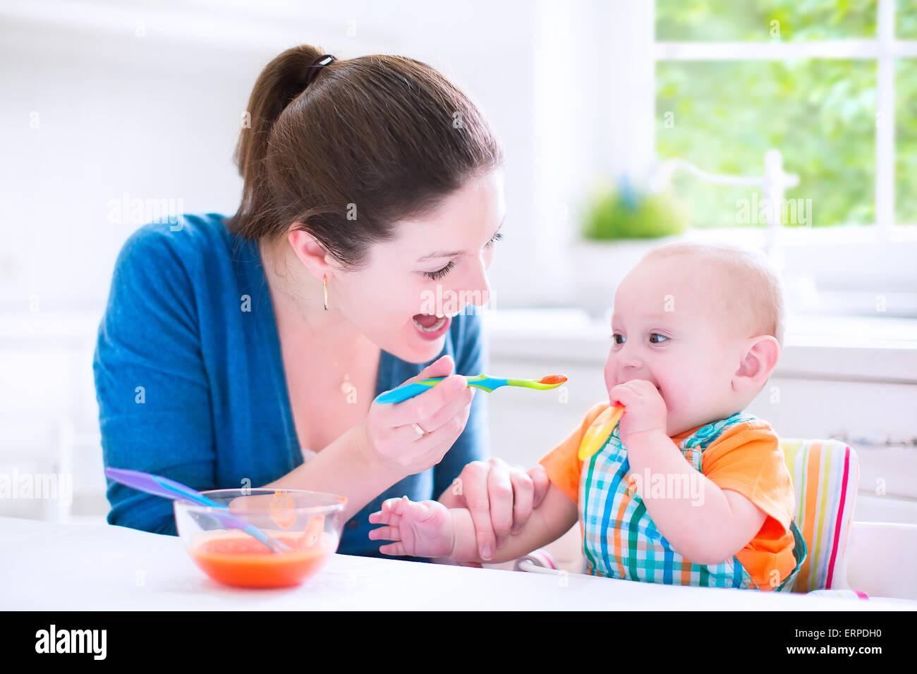 Feeding Baby Carrot Table Food