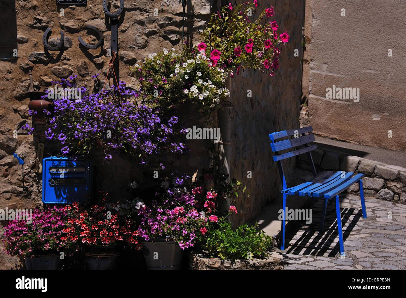 Summer Idyll in the Garden - Stock Image