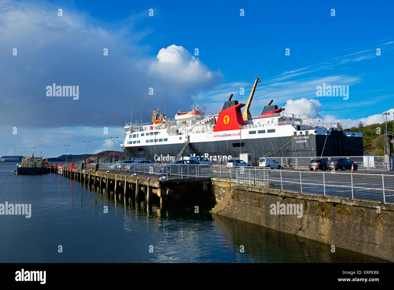 Caledonian MacBrayne Ferry at Storoway, Isle of Lewis, Outer Hebrides, Scotland UK - Stock Image