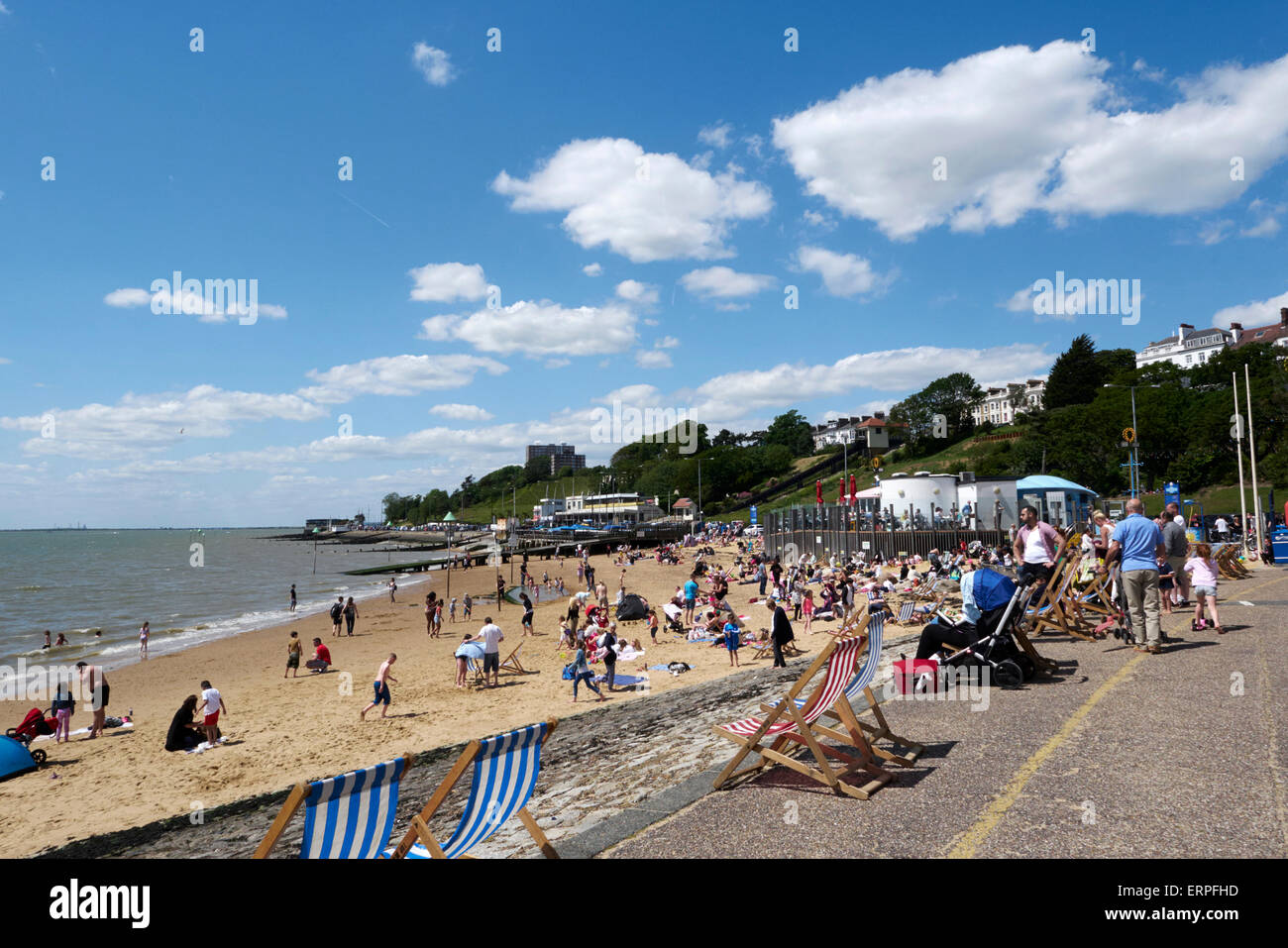 Southend  beach. Early summer 2015 - Stock Image