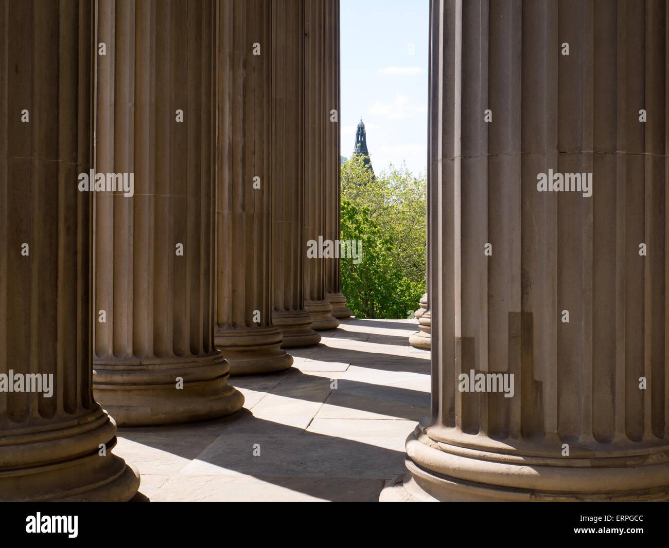 Corinthian columns at St George's Hall, Liverpool - Stock Image