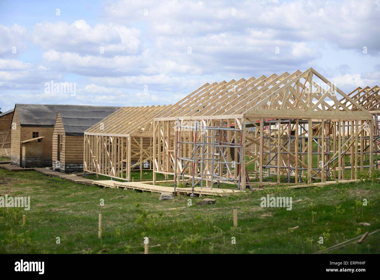The film set which is currently being built for ITV drama 'Jericho'. Picture: Scott Bairstow/Alamy - Stock Image