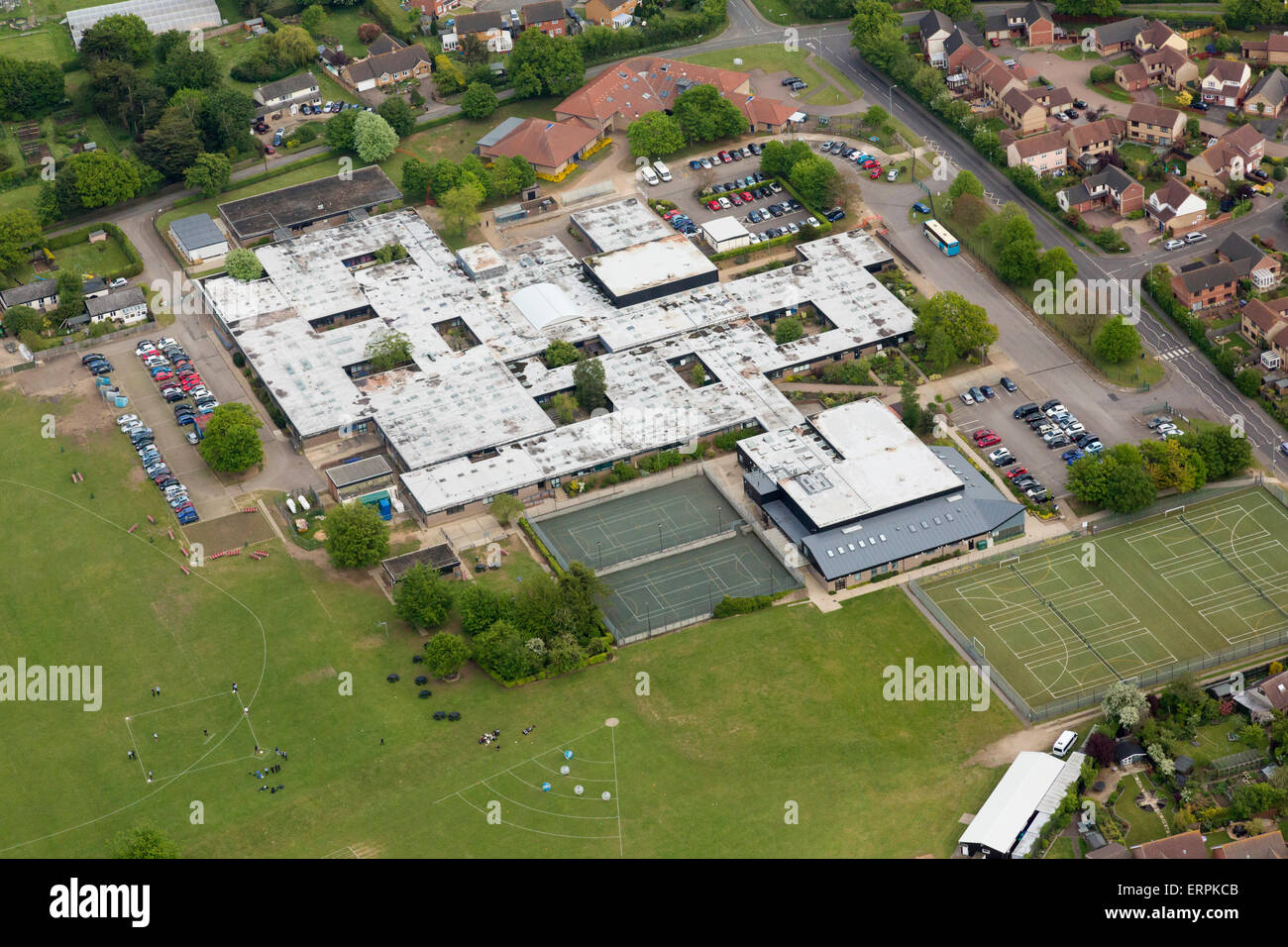 Thurston Community College in Thurston, Bury St Edmunds, Suffolk, UK Stock Photo