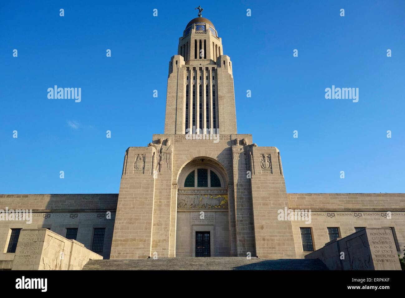 Nebraska State Capitol Building, Lincoln, Nebraska. Stock Photo