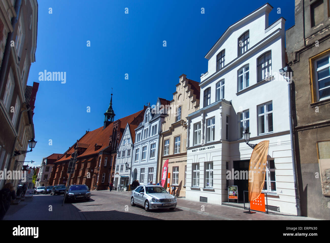 Wismar, Germany. 04th June, 2015. The World Heritage House can be seen in Wismar, Germany, 04 June 2015. The heritage - Stock Image