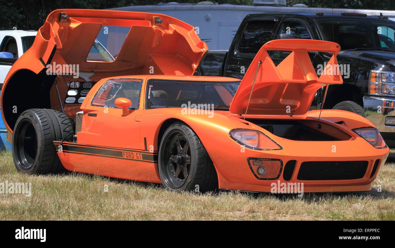 Orange Ford Gt Sports Car