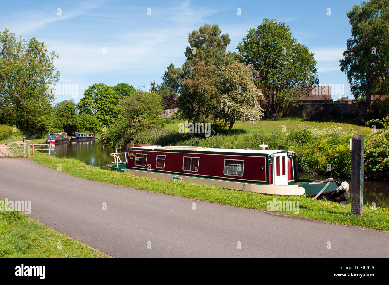 The Staffordshire and Worcestershire Canal, Kinver, Staffordshire, England, UK Stock Photo