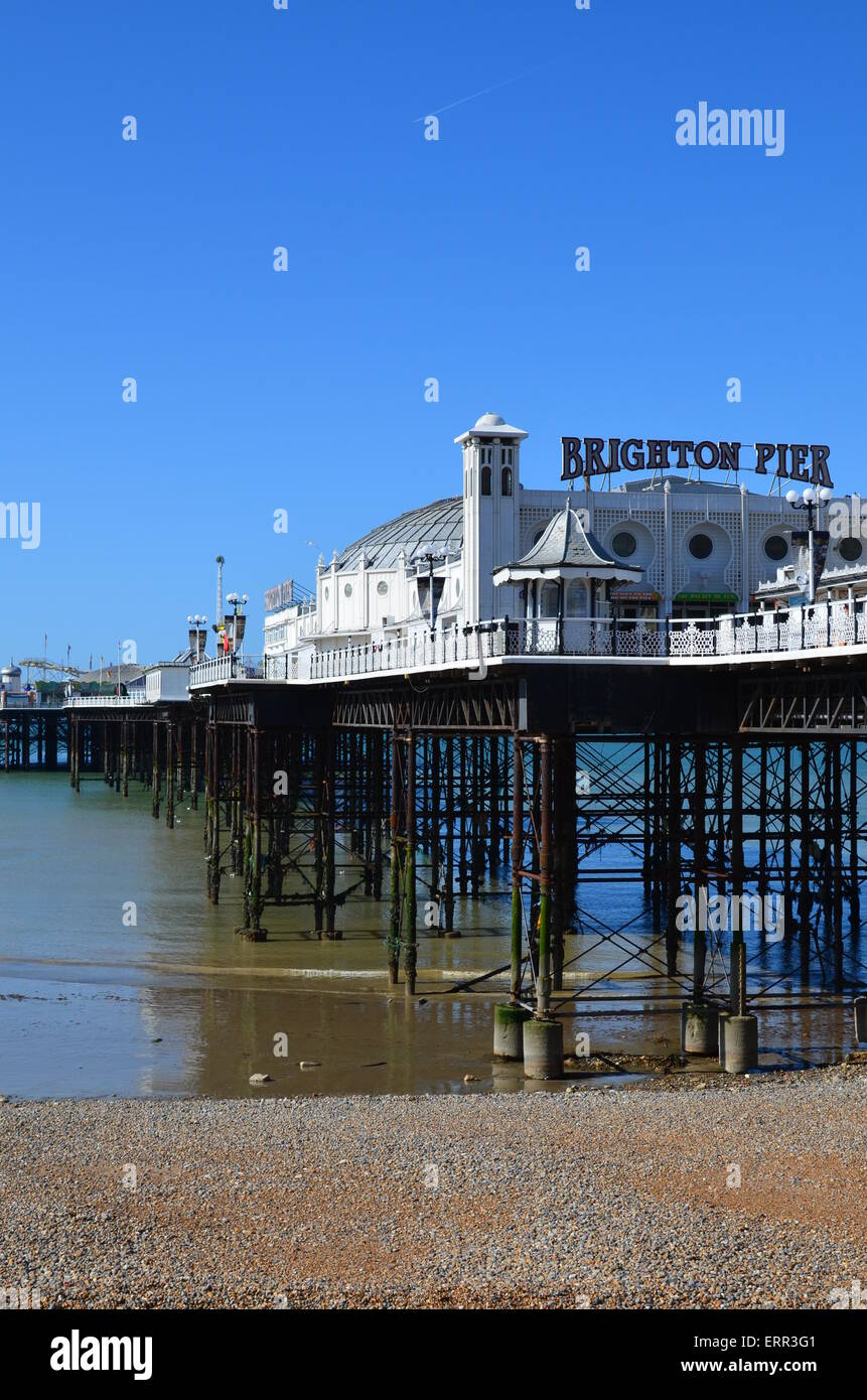 Brighton pier in East Sussex England during Summer. - Stock Image