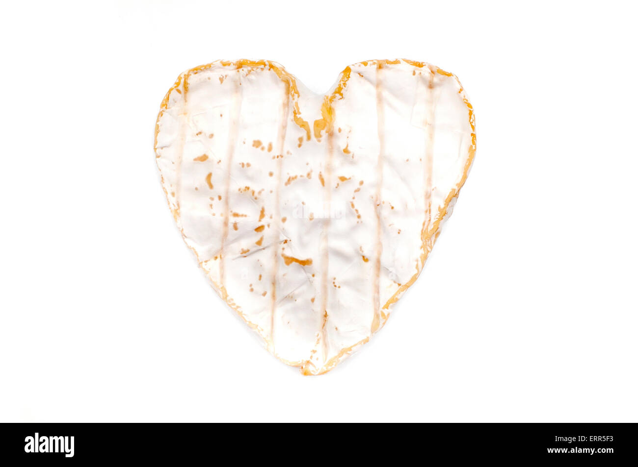 Coeur de Neufchâtel on a white background - Stock Image