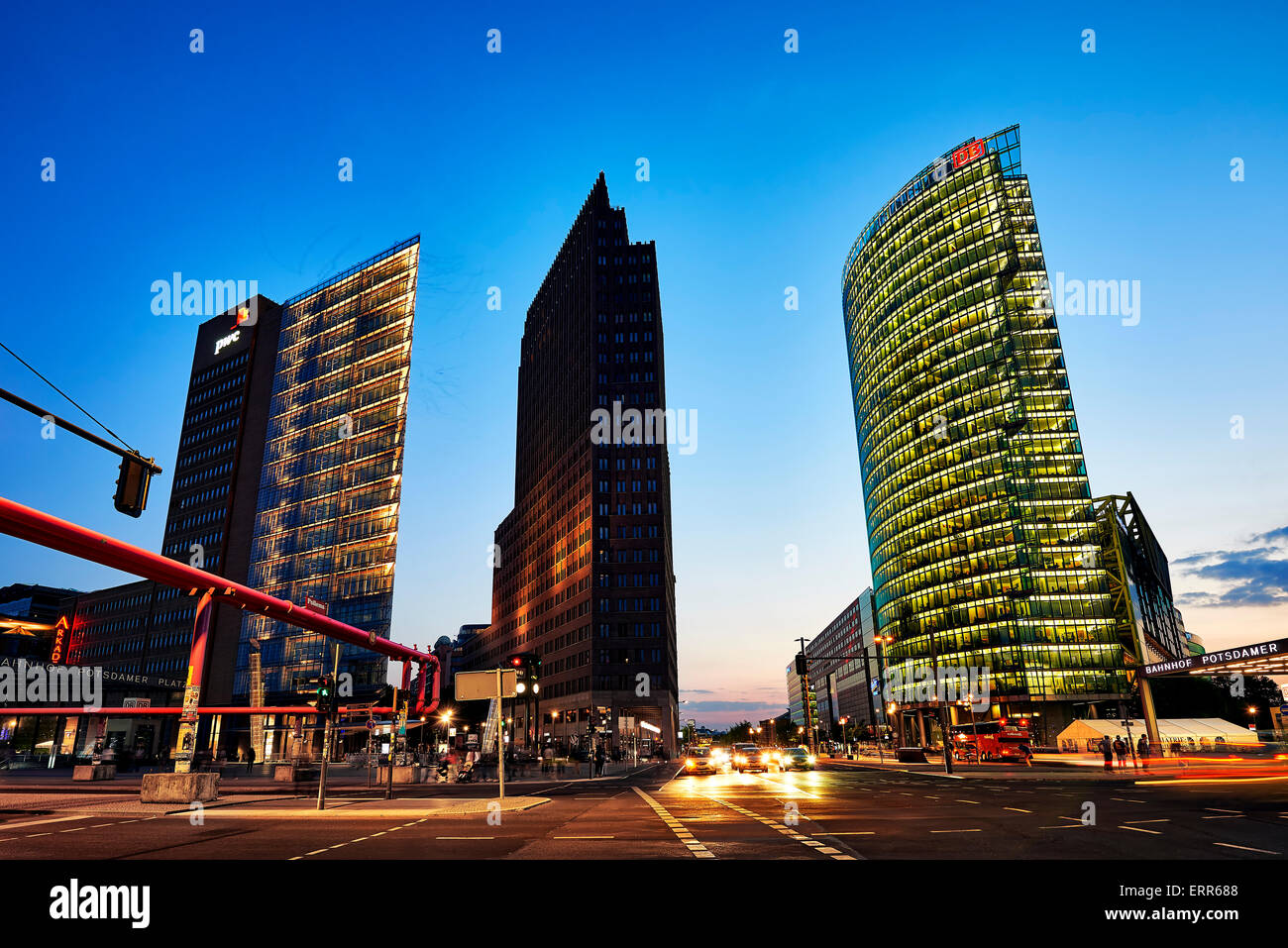 Germany, Berlin, Mitte district, Potsdamerplatz. - Stock Image