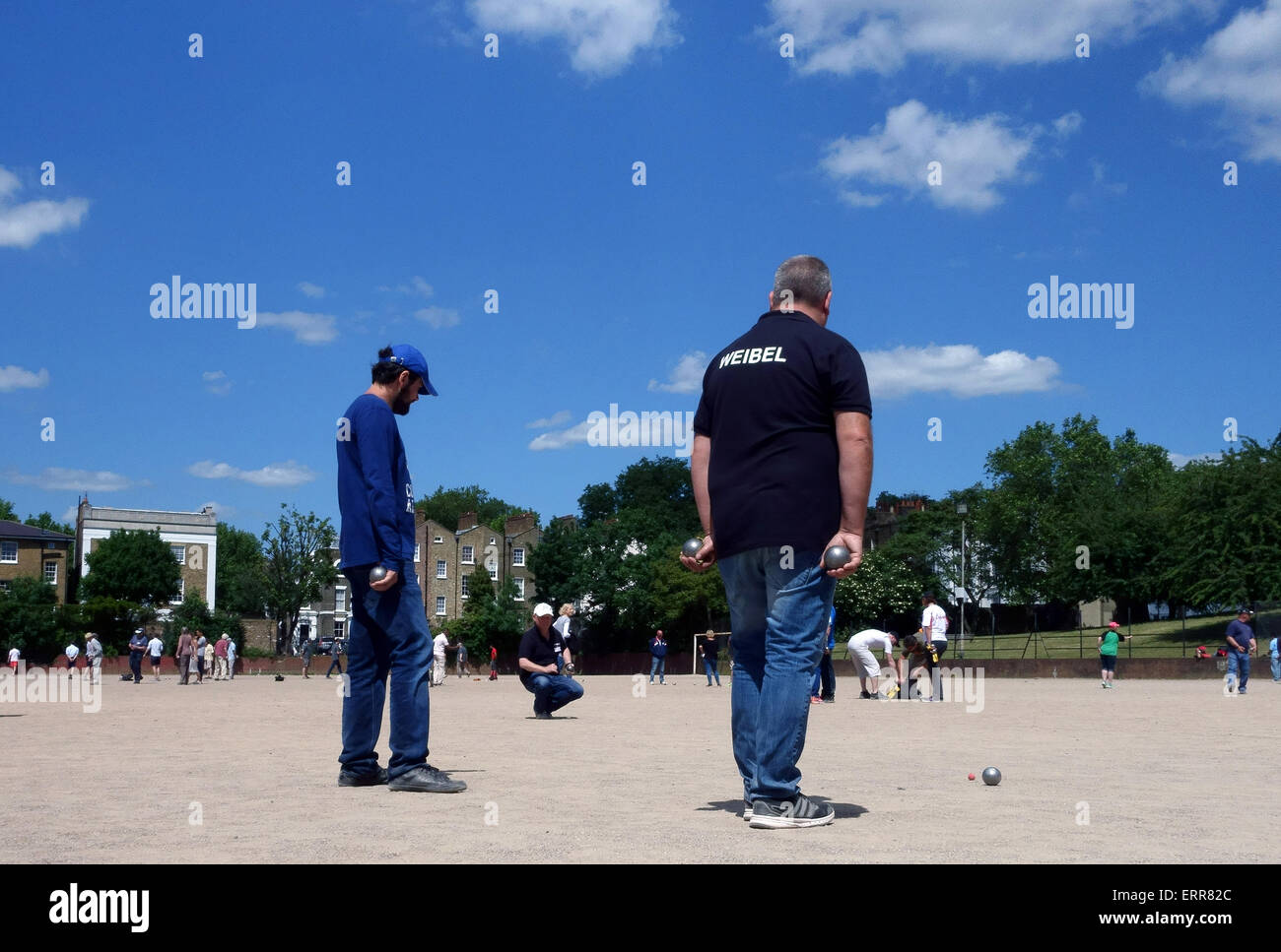 London, UK. 7th June, 2015. The Londonaise 2015 Petanque Tournament reached its final stage in Islington, London Stock Photo