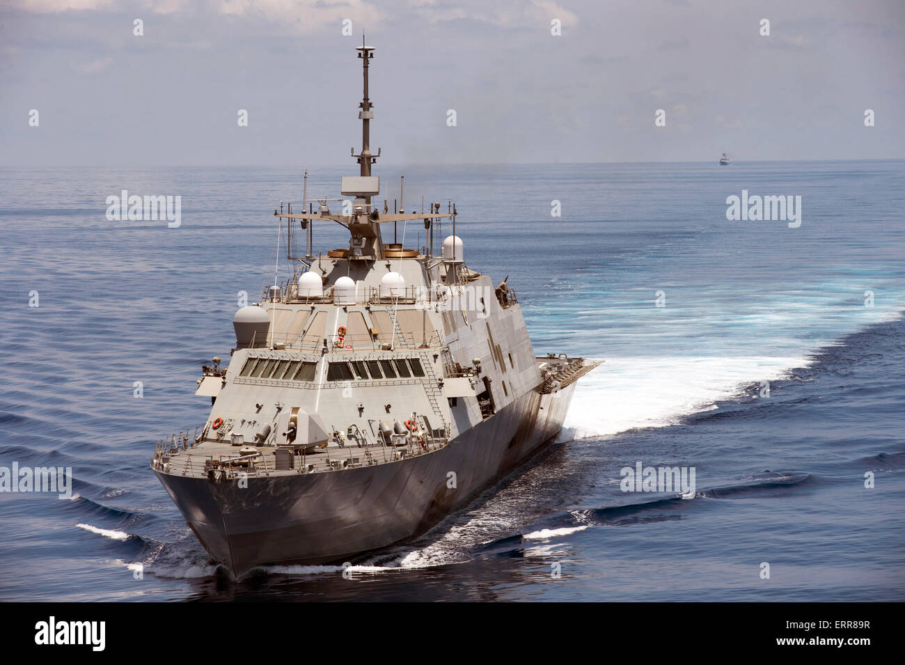 The US Navy littoral combat ship USS Fort Worth conducts routine patrols in international waters of the South China - Stock Image