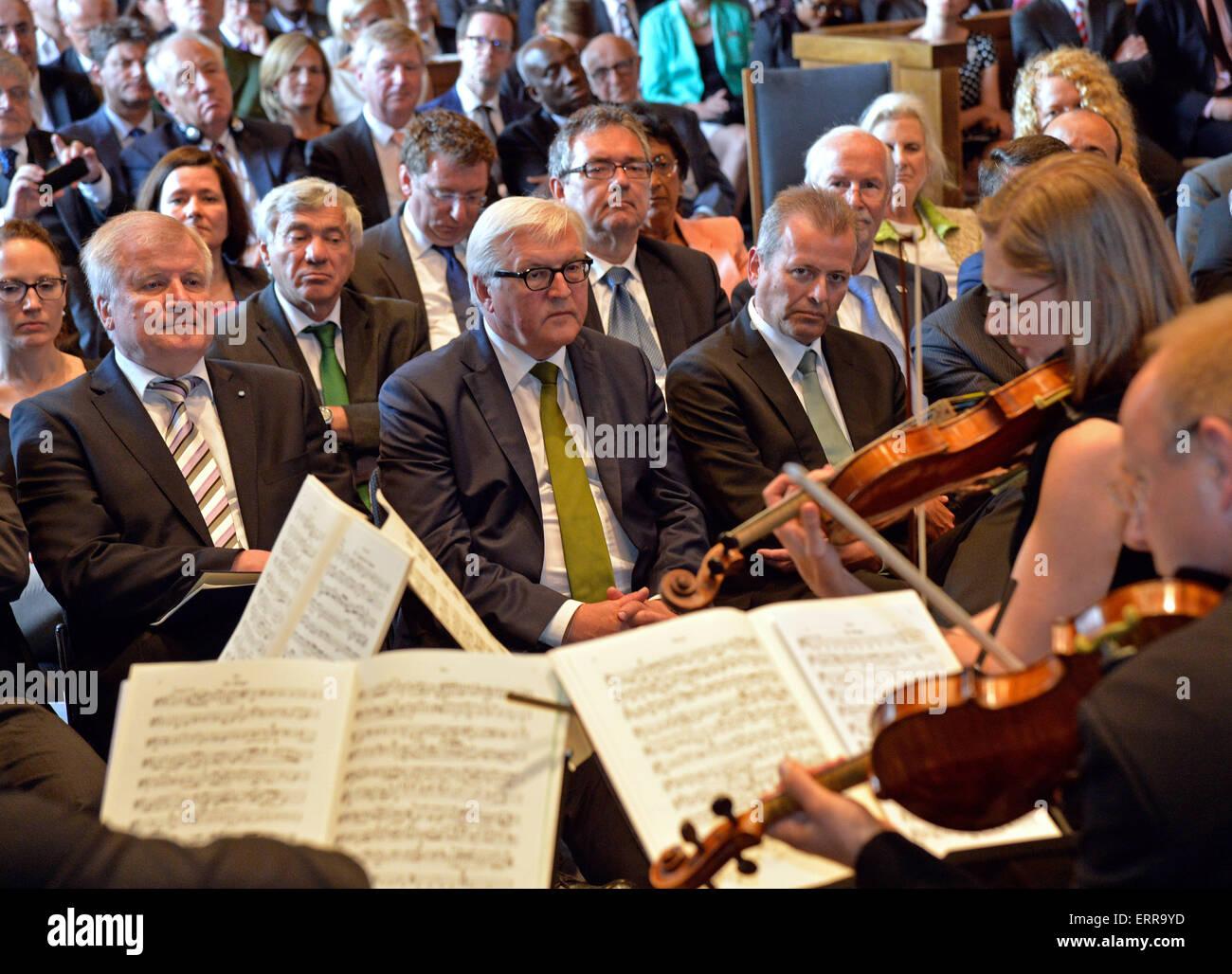 Nuremberg, Germany. 06th June, 2015. Bavarian Minister President Horst Seehofer (L-R), German Foreign Minister Frank Stock Photo