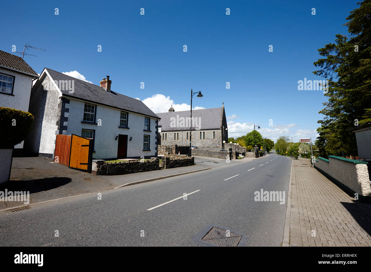 main street of tydavnet county monaghan republic of ireland - Stock Image