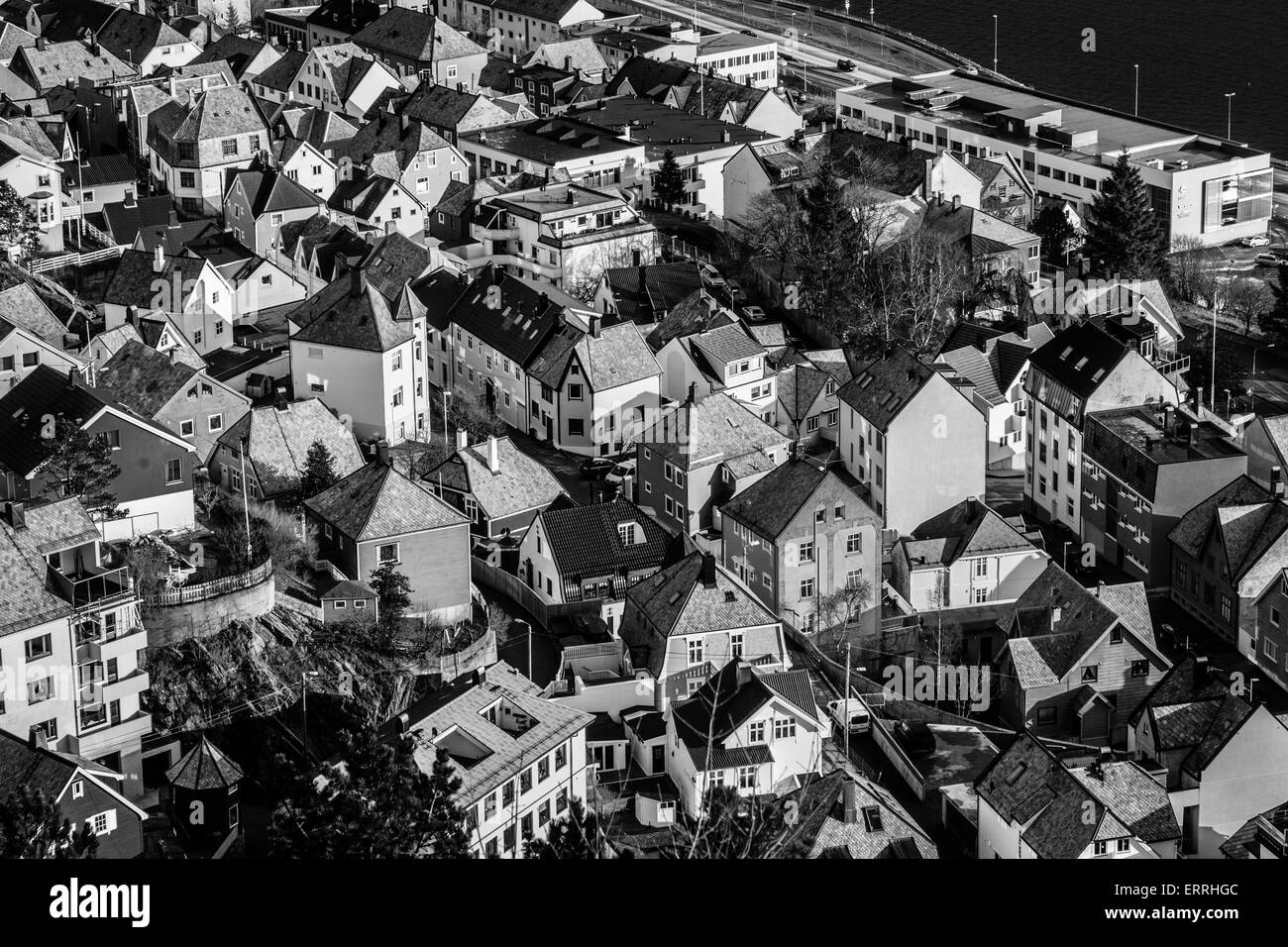 A view of Alesund in Norway from the Aksla viewpoint - Stock Image