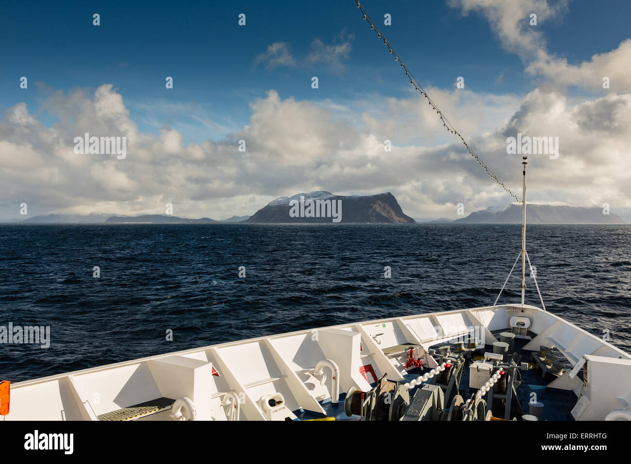 Arriving at Alesund in Norway on board ship MV Azores - Stock Image