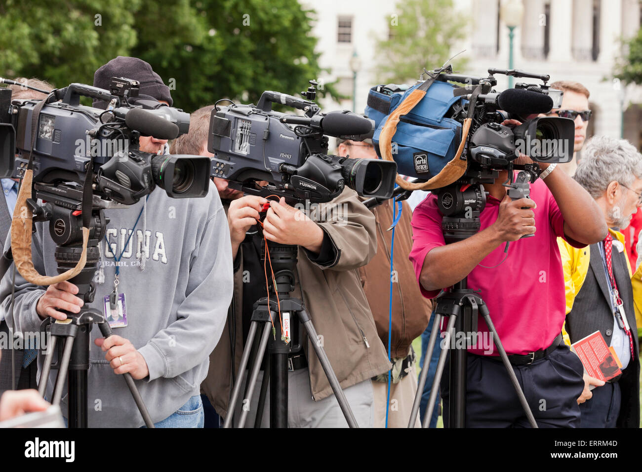 Media cameramen at a press event - Washington, DC USA - Stock Image