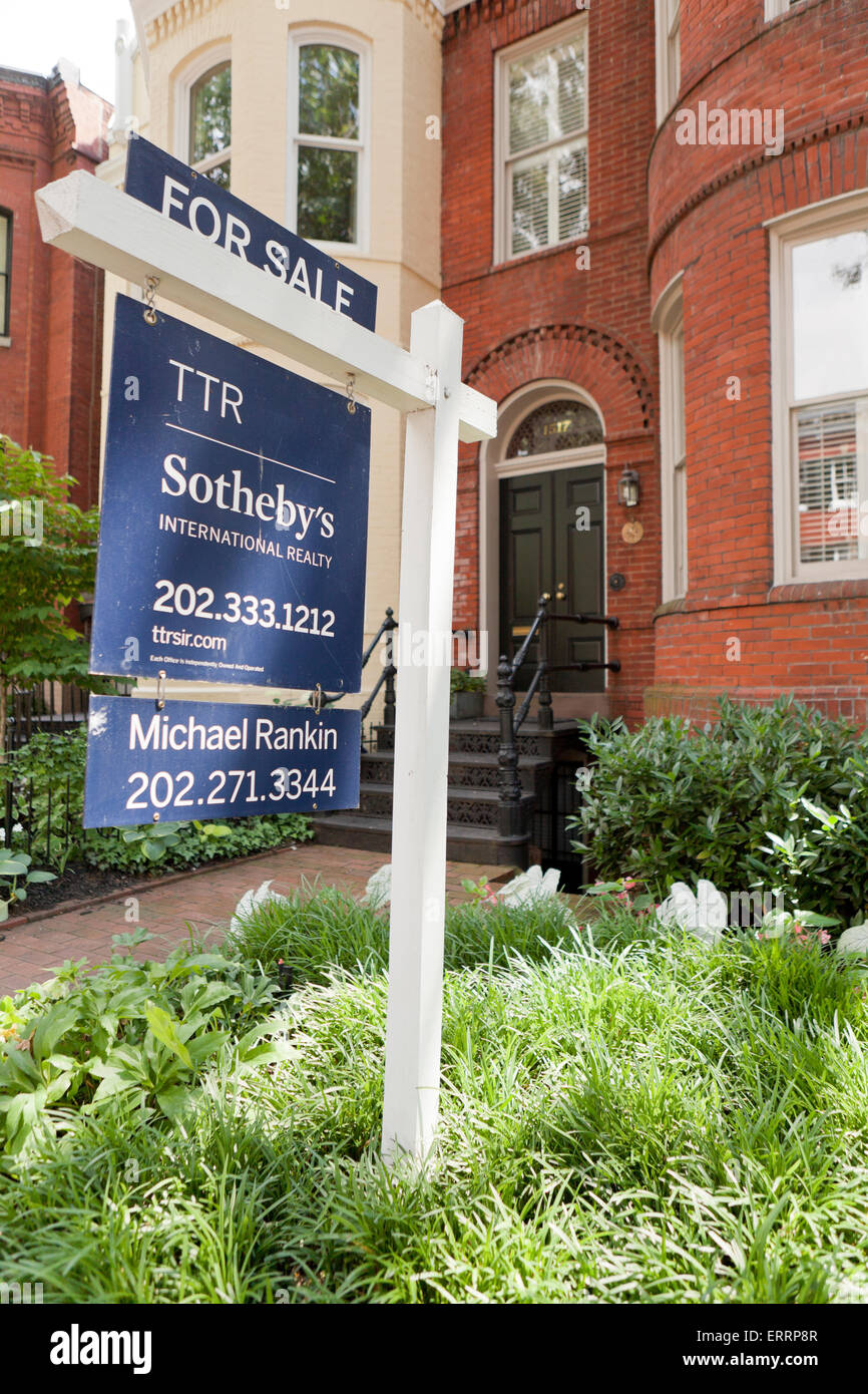 Stupendous Sothebys Realty Sign On Brick House Georgetown Download Free Architecture Designs Boapuretrmadebymaigaardcom