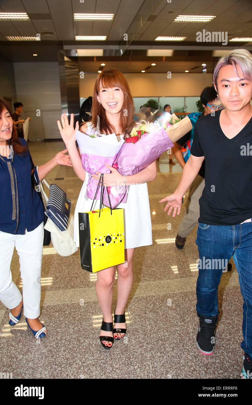 Yui Hatano Arrives Taipei By Wearing White Dress In Taipei Taiwan China On 6th June 2015 Topphoto Alamy Live News