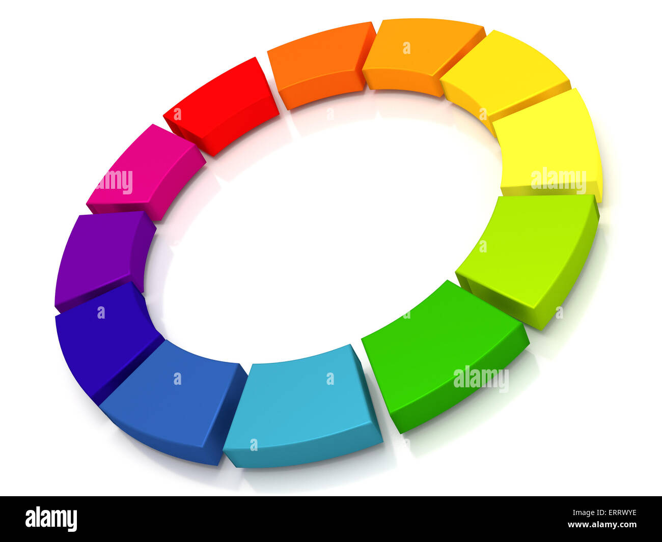 A circle that can be used to illustrate continuous delivery and continuous integration. - Stock Image