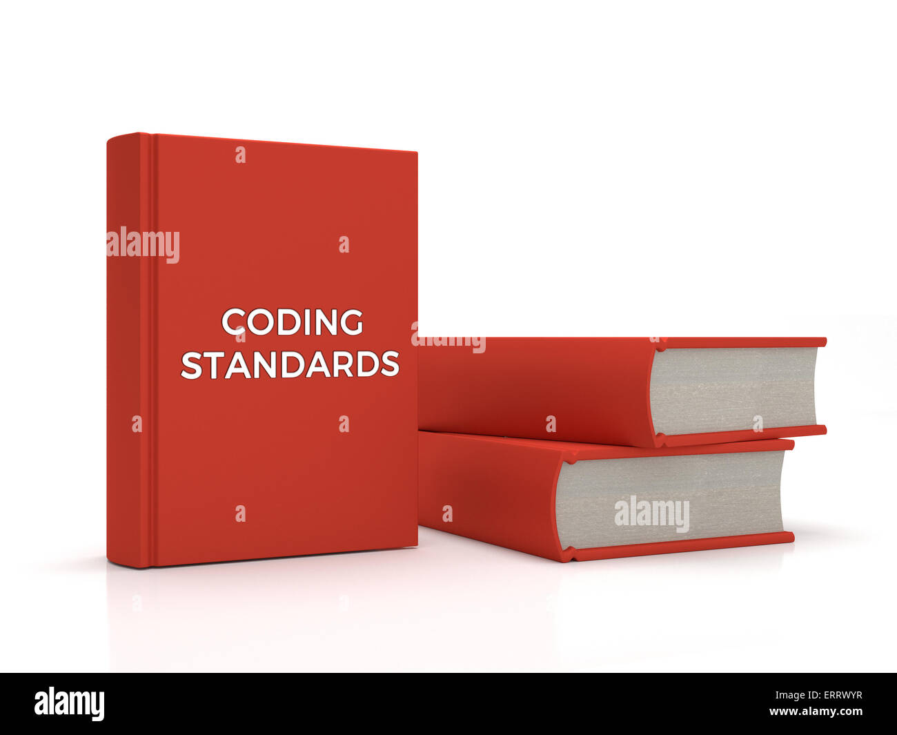 3 books containing the title 'Coding Standards' - Stock Image