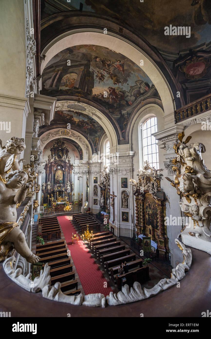 Interior of St. Clement Church, Prague, Czech Republic Stock Photo