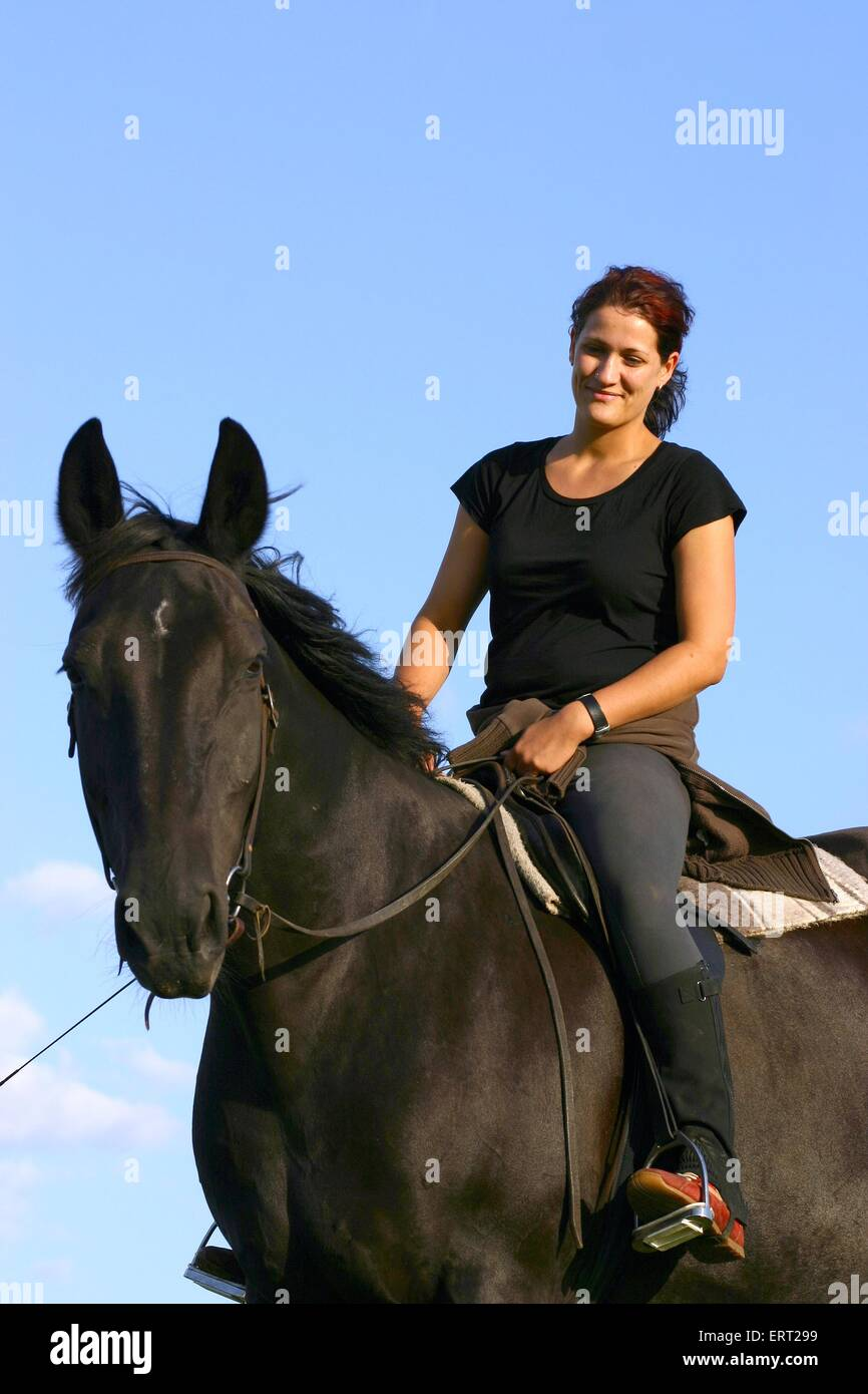 horsewoman - Stock Image