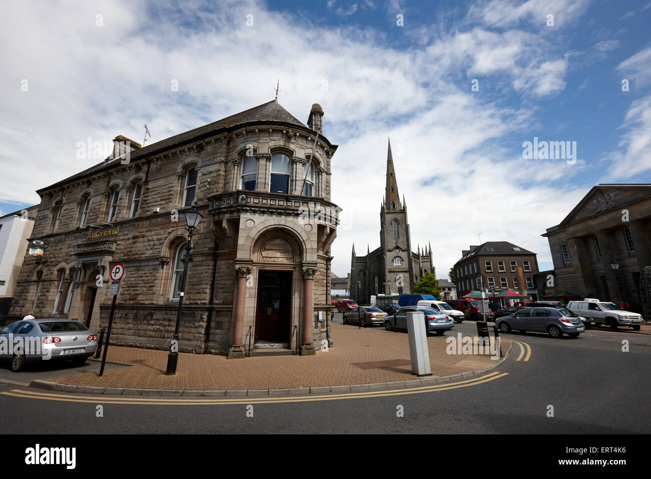 The Bank of Ireland building former hibernian bank monaghan town county monaghan republic of ireland - Stock Image