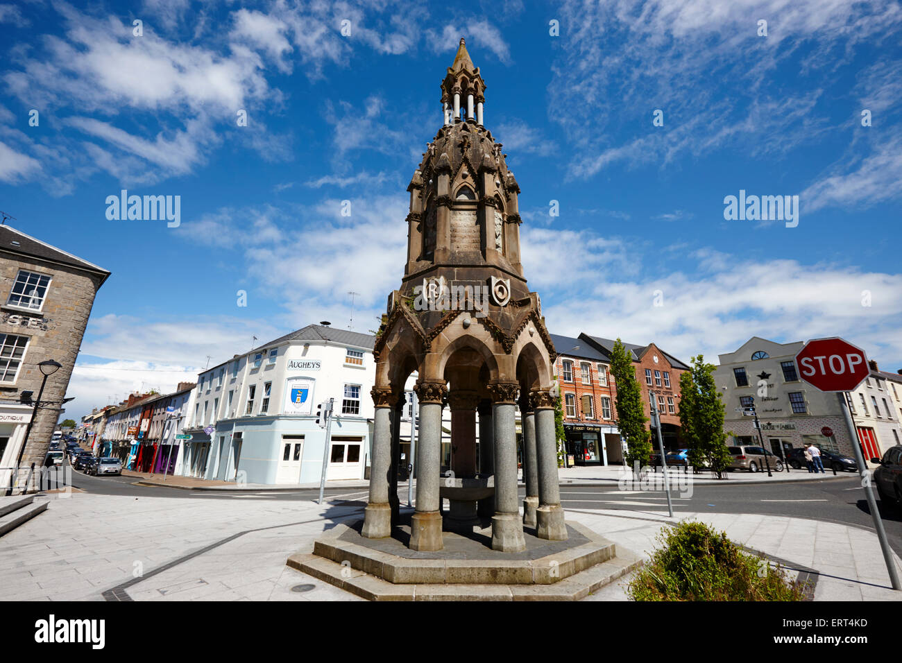 The Rossmore monument in the diamond monaghan town county monaghan republic of ireland - Stock Image