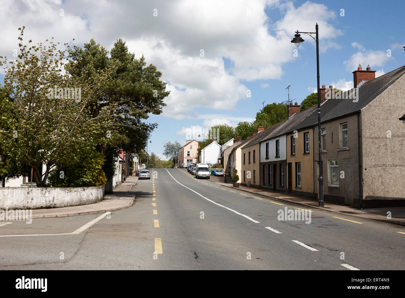 main road through smithborough village county monaghan republic of ireland - Stock Image