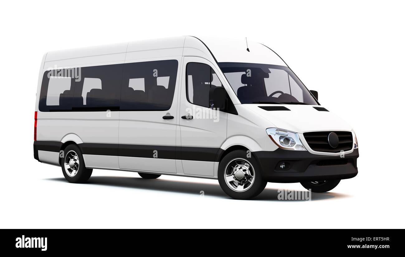 White minibus - Stock Image
