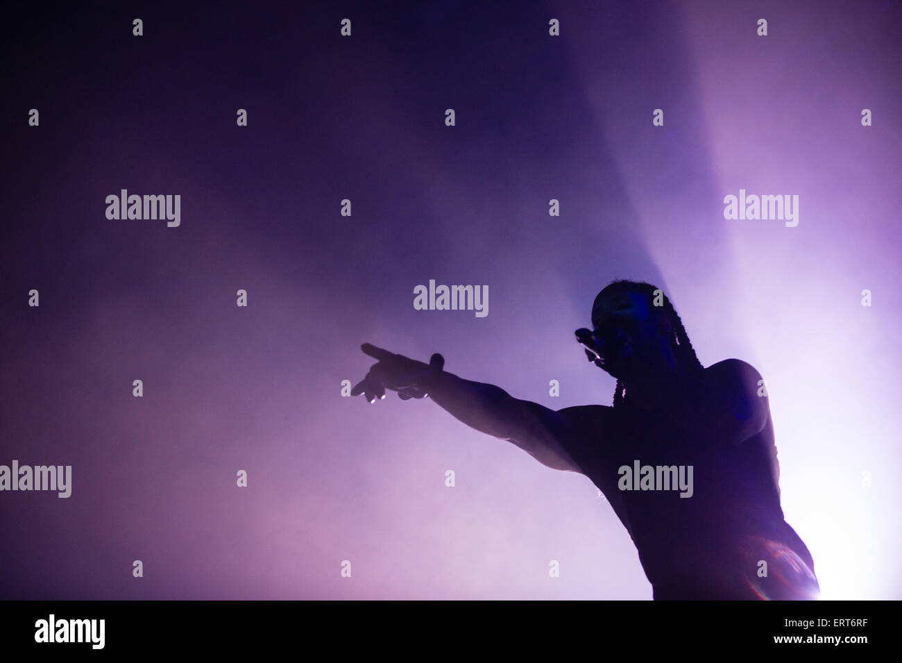 Singer Keith Palmer a.k.a. Maxim Reality of British band 'The prodigy' performs at Rock im Park music festival - Stock Image