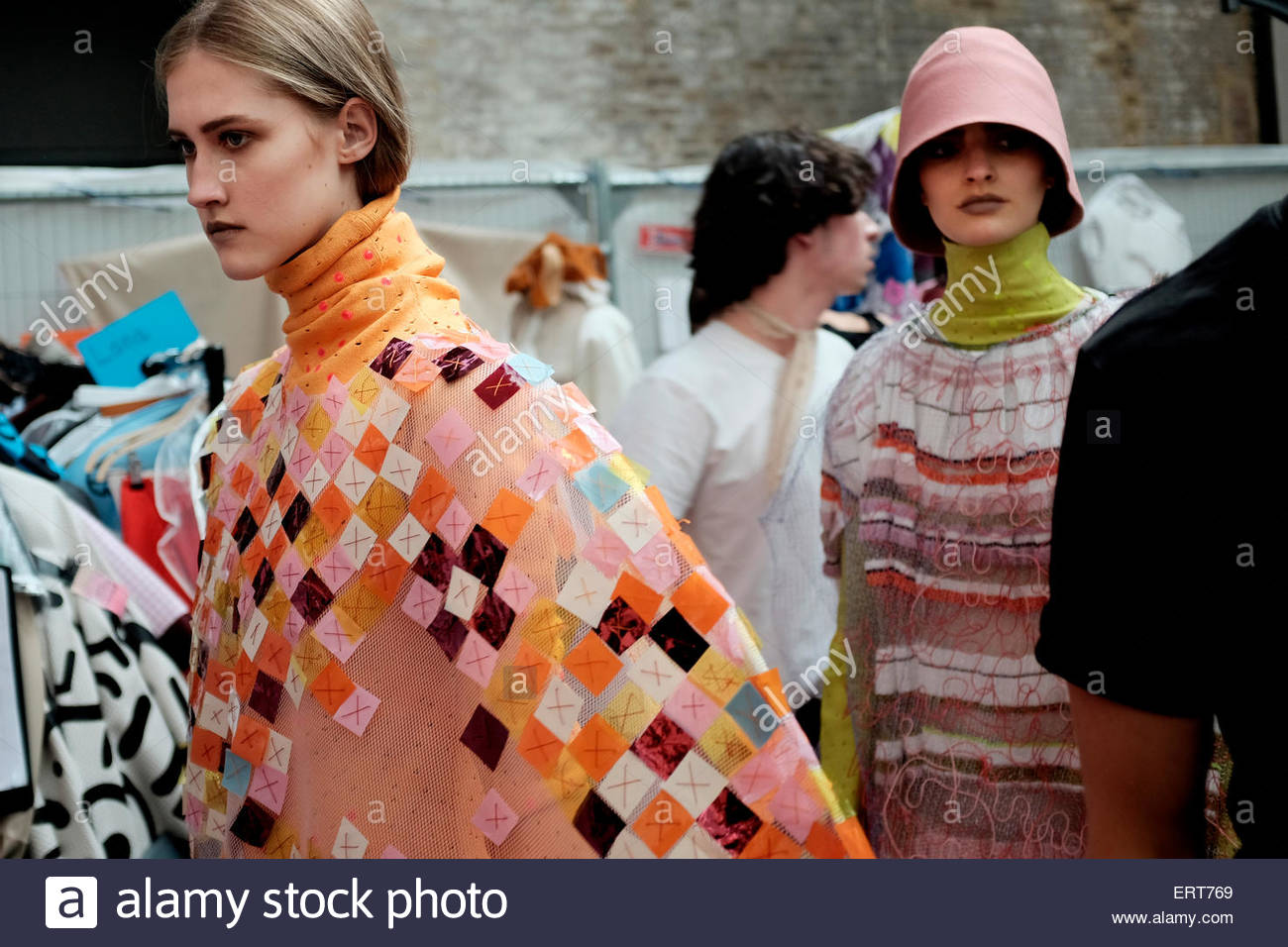 Womenswear, Final year BA fashion  student Phoebe Kime's collection,  at Central Saint Martins ,University Of - Stock Image