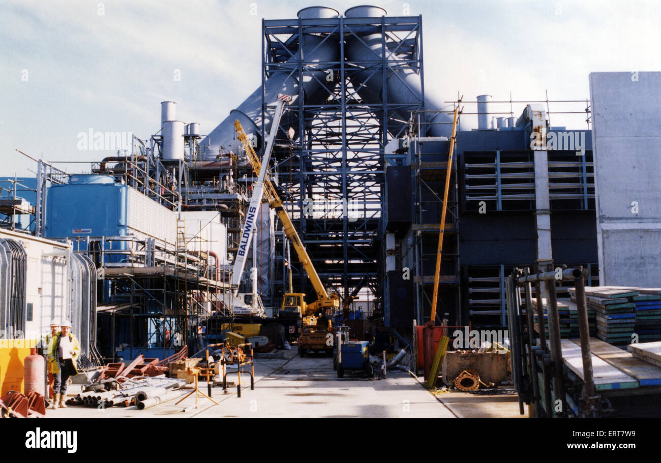 The Enron power station starts to take shape . 8th November 1992. - Stock Image