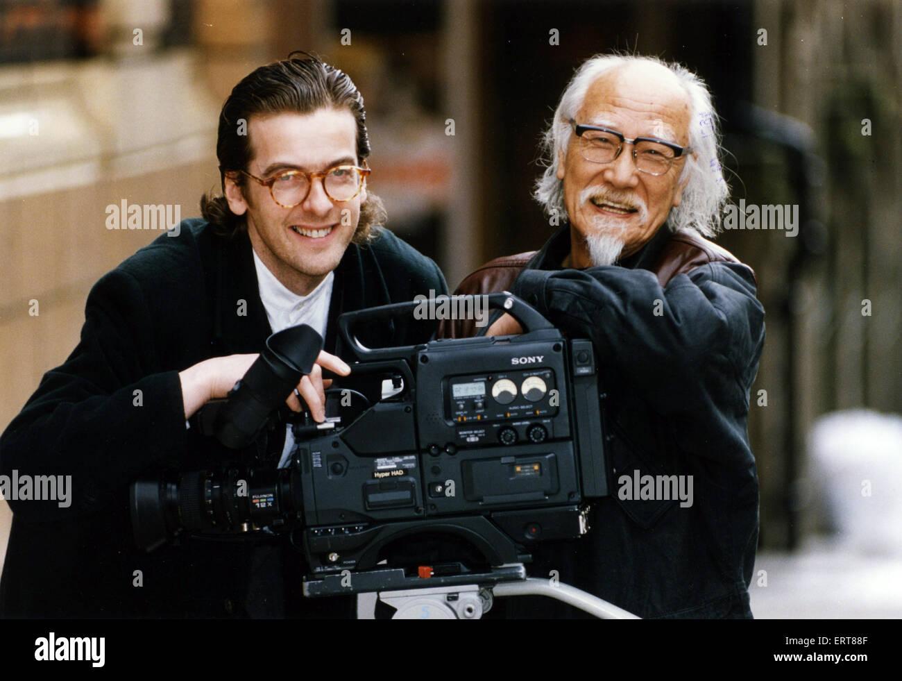 Actor Peter Capaldi  with japanese veteran film maker Suzuki Seijun at Glasgow's prestigious Glasgow Film Theatre - Stock Image