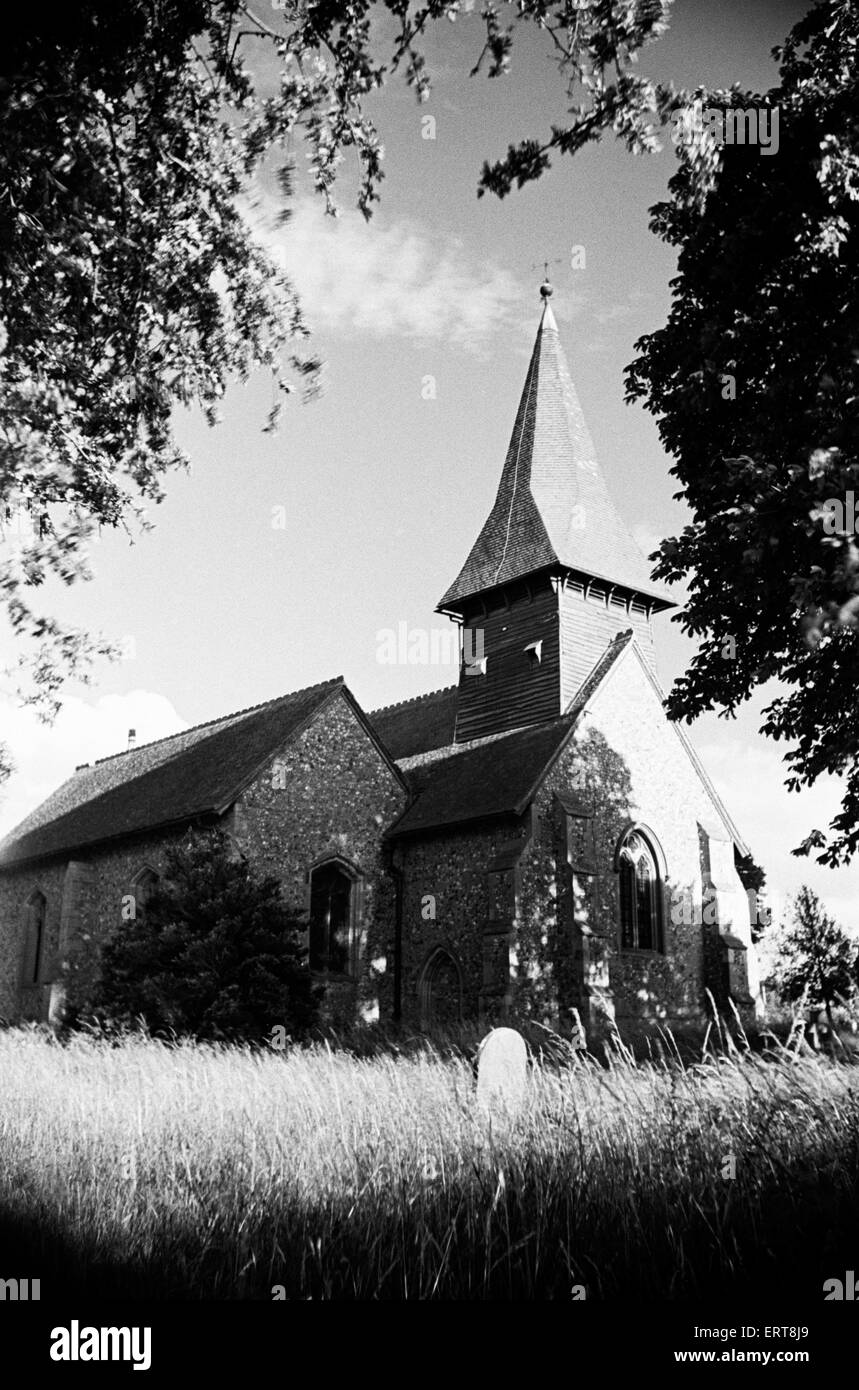 St Mary's Church in Broxted, Essex. 14th July 1946. - Stock Image