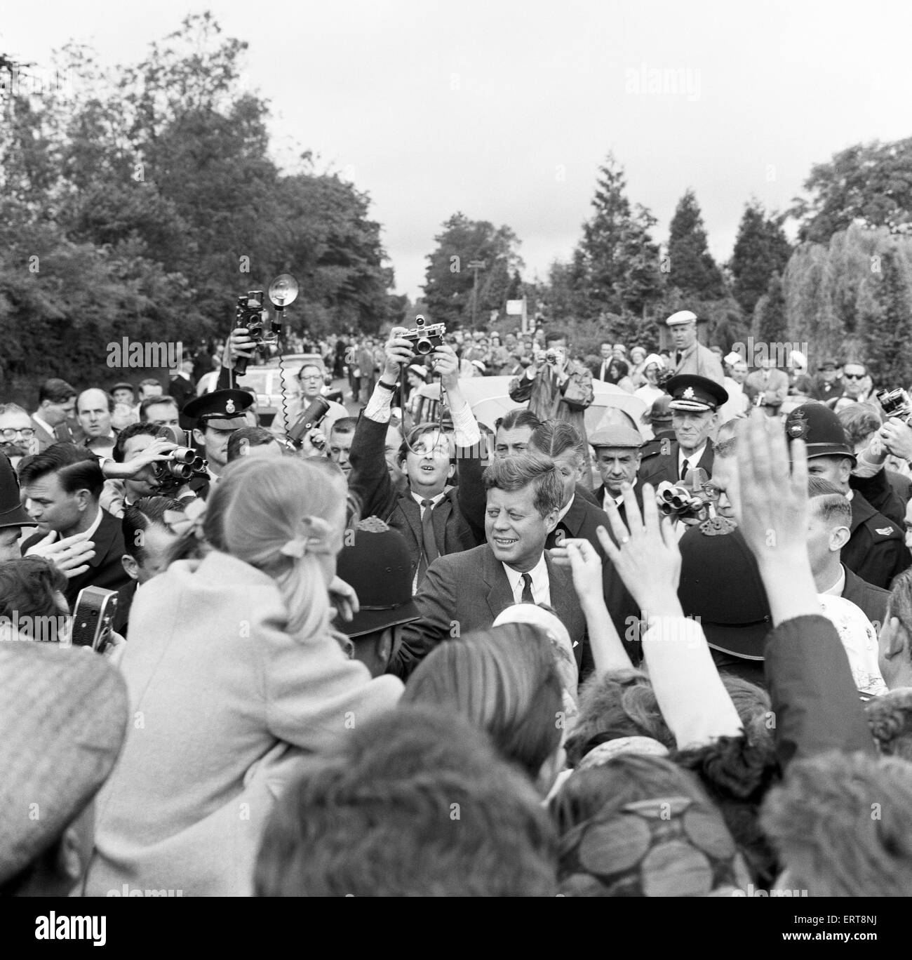 The visit of American President John F Kennedy to England. 30th June 1963. - Stock Image