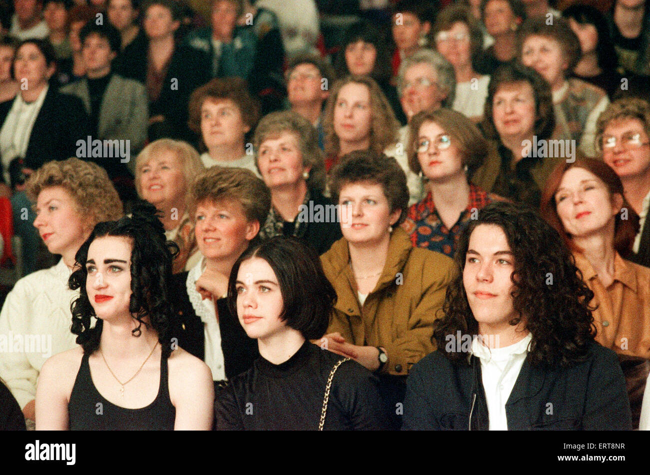 Clothes Show Live, audience members, Birmingham NEC, 6th December 1990. - Stock Image