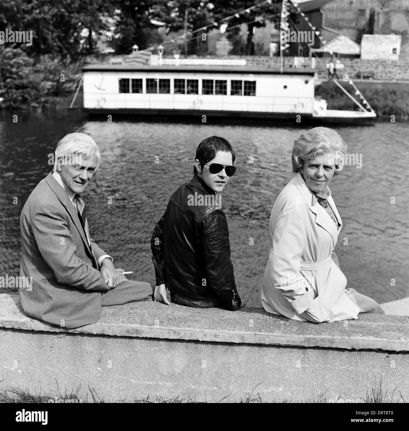Genesis P. Orridge with his mother Muriel and father Ronald. 2nd September 1977 - Stock Image