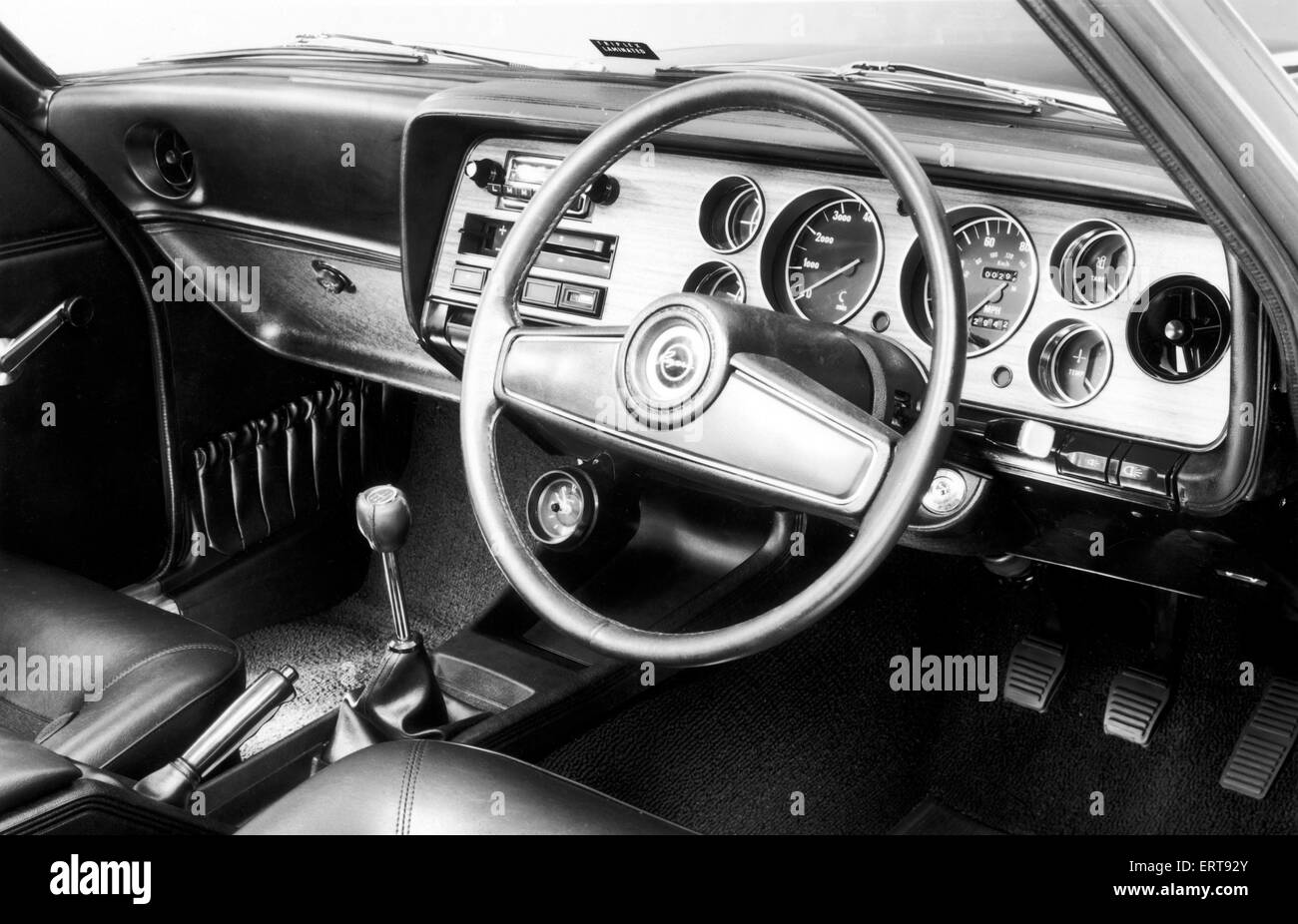 Ford Capri was a name used by the Ford Motor Company for three different automobile models. The Ford Consul Capri - Stock Image