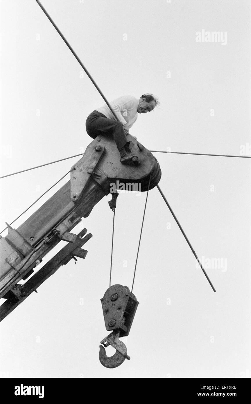 Karl Wallenda, Tightrope Walker, crosses over Europe\'s largest ...
