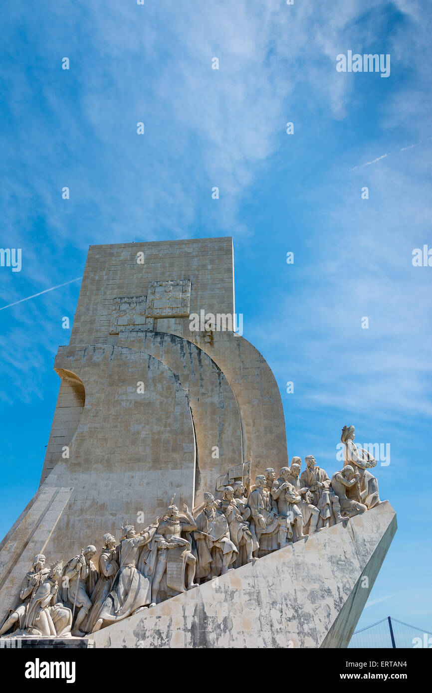 Monument to the Discoveries at Belem Lisbon Portugal - Stock Image