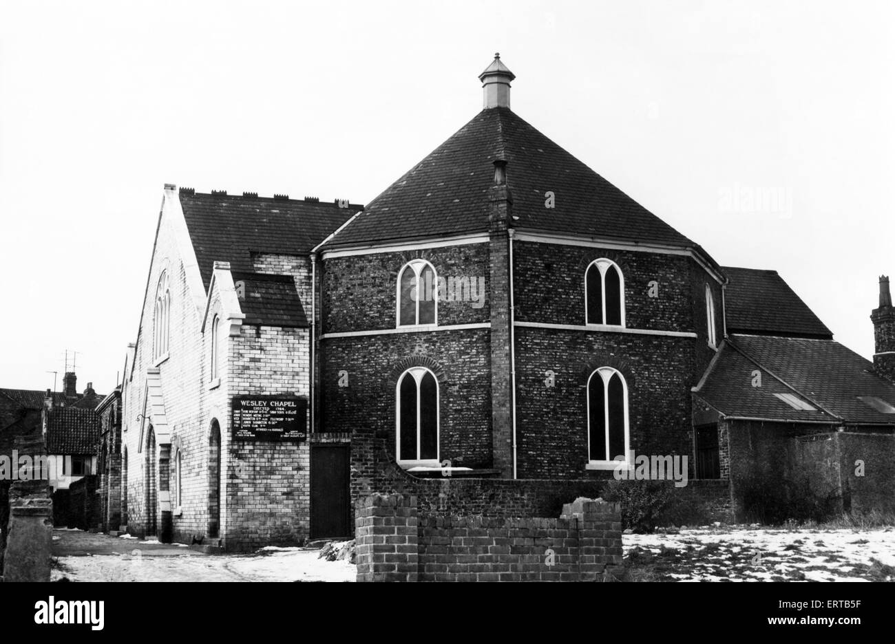 Wesley Methodist Church at Yarm, Stockton, 18th January 1963. - Stock Image
