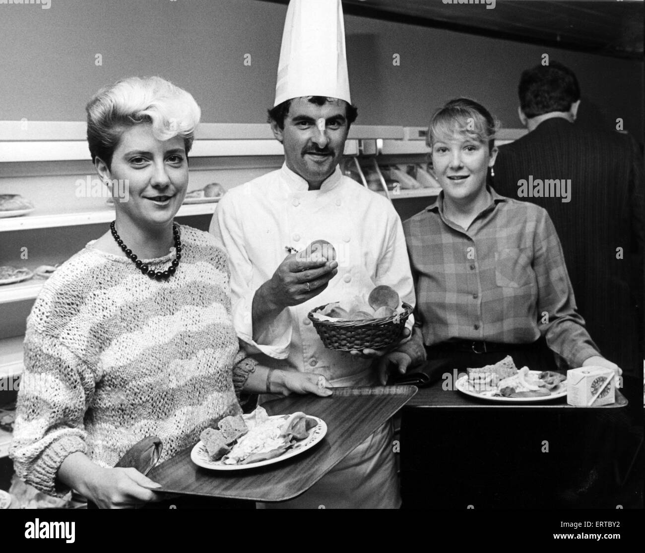 ICI, Billingham, healthy eating campaign, a week when the workforce has the choice of low cholesterol, low fat food - Stock Image