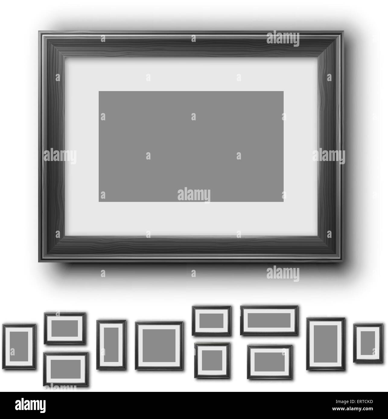 Frames set - Stock Image