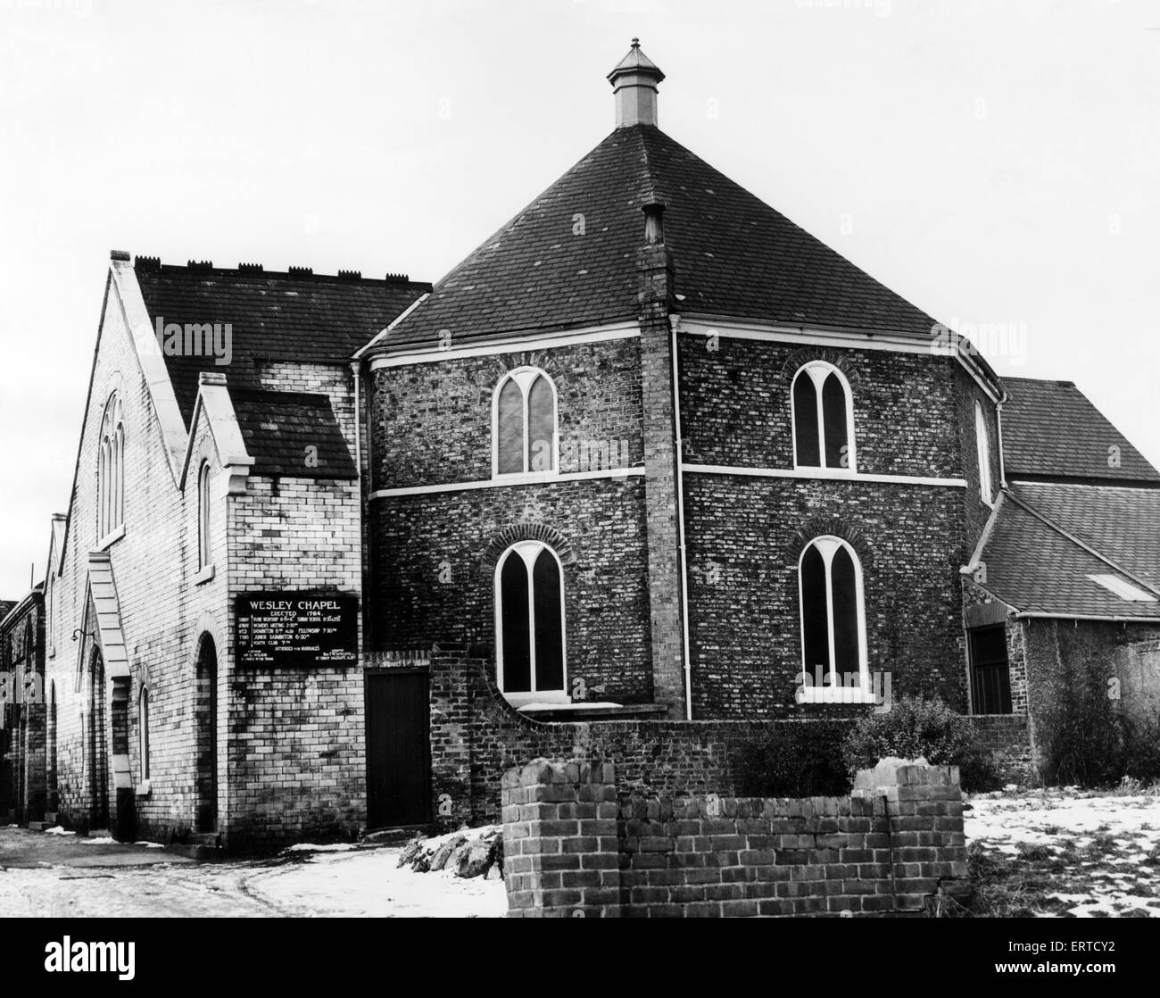 Wesley Methodist Church at Yarm, 18th January 1963. - Stock Image