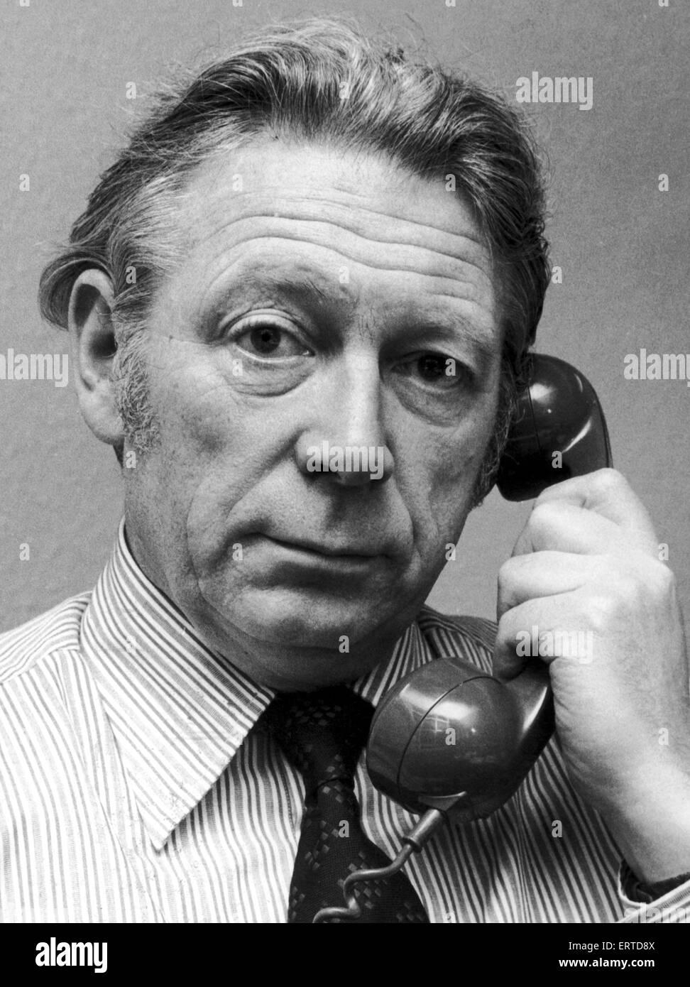 Geoffrey Goodman, Daily Mirror Industrial Correspondant. 30th December 1976 - Stock Image